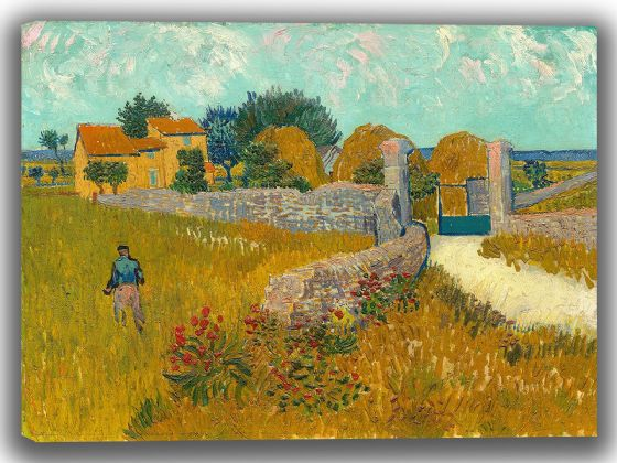 Van Gogh, Vincent: Farmhouse in Provence. Fine Art Canvas. Sizes: A4/A3/A2/A1 (004129)